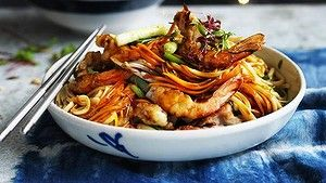 Dragon and phoenix longevity noodles.