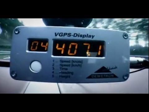 Bugatti Veyron top speed test - Top Gear series 9 - BBC - YouTube  407 km/hr for a legal production car isn't too shabby.