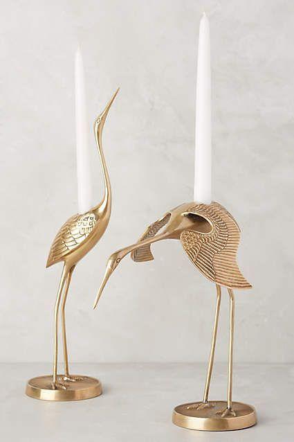 Brass Crane Taper Holder - http://anthropologie.com