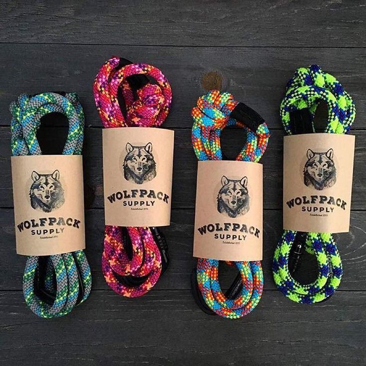 LOVE these rugged dog leashes from @wolfpacksupply  They're made from durable colorful climbing rope and come equipped with a locking carabiner so Fido never gets loose! Perfect for any outdoor adventure or stroll through the city  @WOLFPACKSUPPLY @WOLFPA