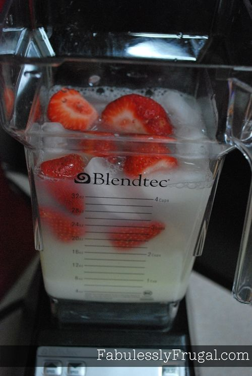 strawberry lemonade - make batches of concentrate and freeze