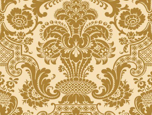 Золотые обои для Вашей квартиры с роскошным дамаском в интернет магазине