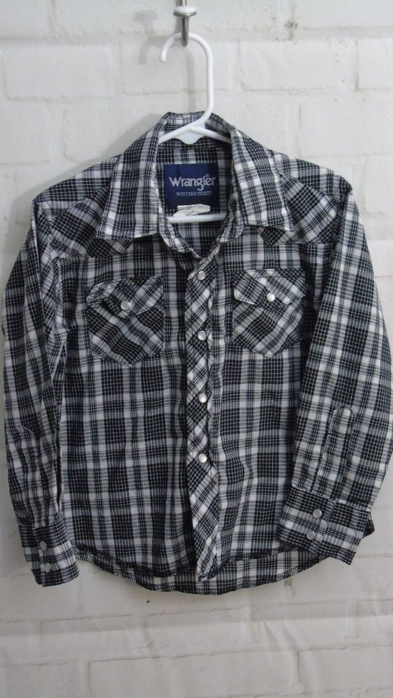 f810523b Little Boys Wrangler Western Style Button Down Shirt Size XS (3/4)  Pre-Owned #Wrangler