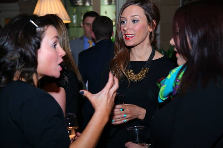 Hannah Macleod chatting with Hayleigh Folwell from Lollyrocket. Finalist for The Social Media Awards 'Social Media Practitioner of the Year' at Kilworth House Hotel
