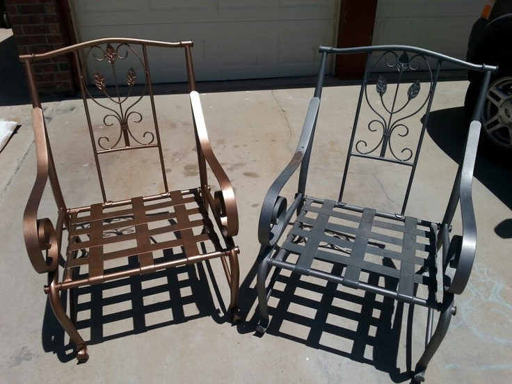 Old Patio Facelift. Use Rustoleum Universal Paint (Aged Copper) | Rustoleum  Universal | Pinterest