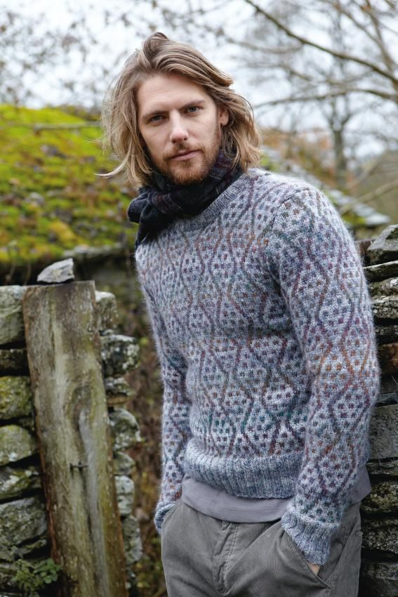 New FREE online pattern from Rowan:  Balkan by Brandon Mably, made in Rowan Colorspun, from Rowan Magazine 54 (British kntting/crochet magazine)