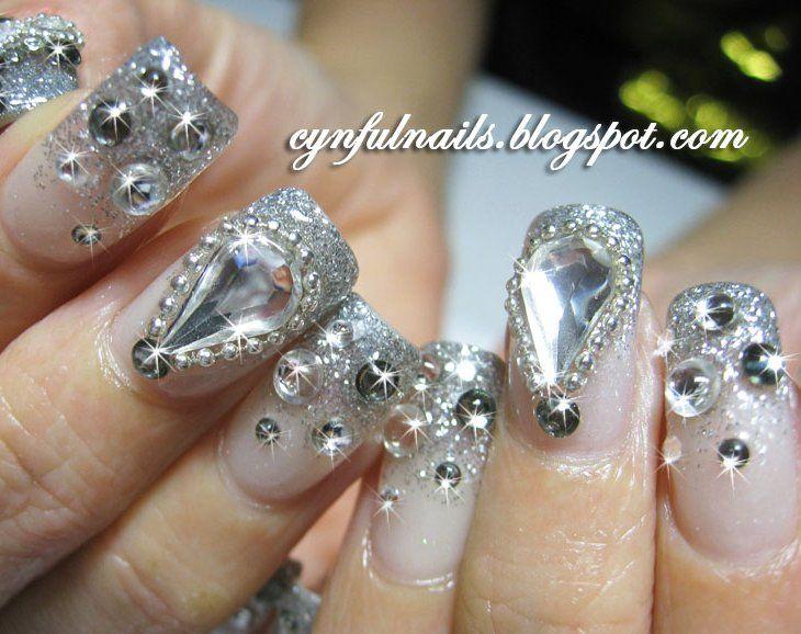 76 best Jeweled nails images on Pinterest   Bling nails, Fingernail ...