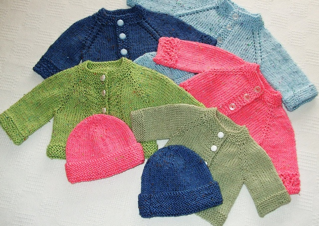Pretty Little Preemie Cardigans and Hats.