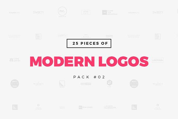[Pack 02] 25 Modern Logo Templates by WornOutMedia Co. on @creativemarket