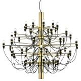 Gino Sarfatti Chandelier come in 2 sizes, 30 lightbulbs and 50 lightbulbs. Perfect illumination for a contemporary Scandinavian home setting.