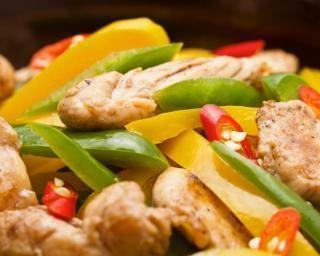 Mijoté de légumes et poulet au four : http://www.fourchette-et-bikini.fr/recettes/recettes-minceur/mijot-de-lgumes-et-poulet-au-four.html