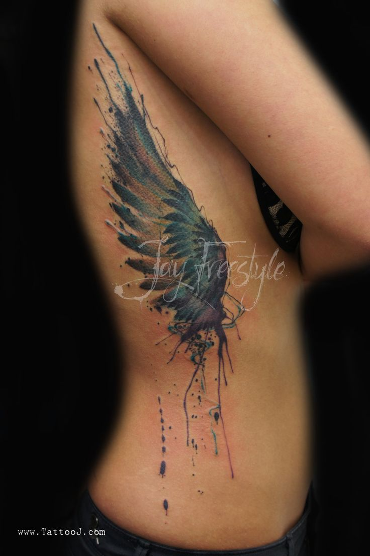 Wing tattoo - Jay Freestyle by JayFreestyle.deviantart.com on @deviantART