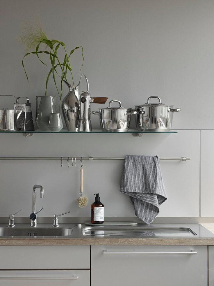 45 best Küche images on Pinterest Kitchen ideas, Baking center - küchenrückwand edelstahl optik