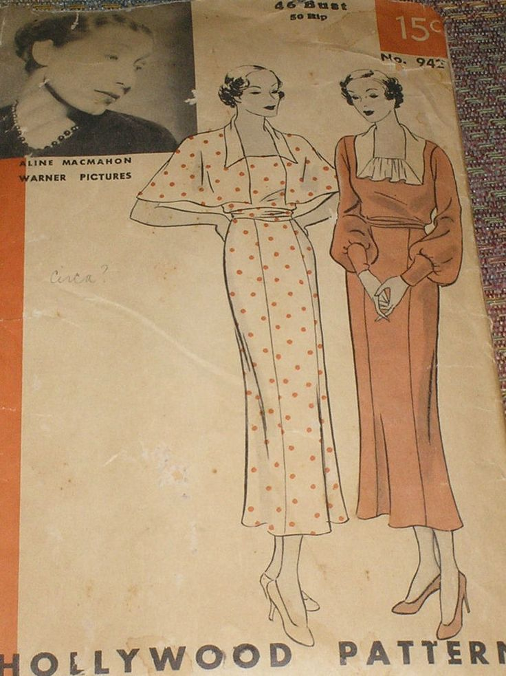Charming Warm Weather Vintage Inspired Frocks Featuring: 141 Best Images About 1930s Hollywood Sewing Patterns On