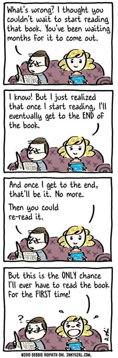 Hilarious confessions of bookworms in cartoon form. Book nerds will love these!