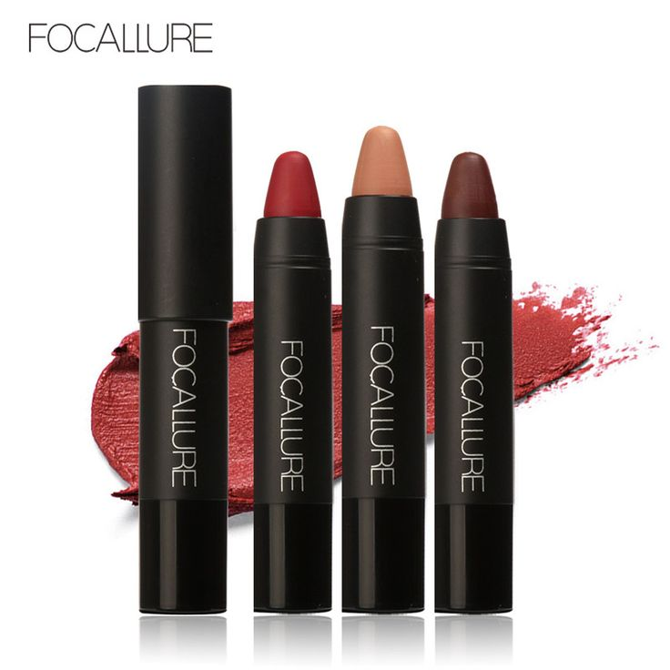 FOCALLURE Lippenstift 12 Farben Bleistift Sexy Langlebige Lippentönung Wasserdicht Pigment Velvet Braun Nude Matte Lippenstift Bleistift
