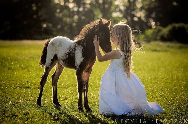 Girl foul horse baby love beautiful inspiring feeling. La vie en rose