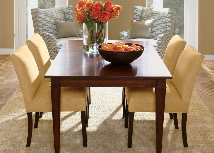 Awesome Yellow, Gray Palette With Warm Honey Walls Christopher Dining Table   Ethan  Allen US