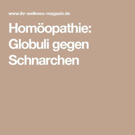Homöopathie: Globuli gegen Schnarchen