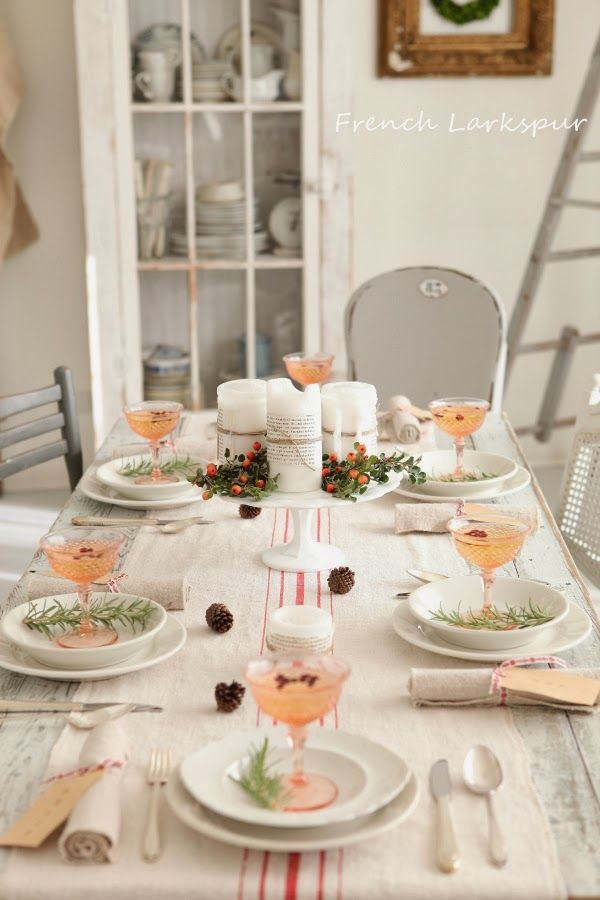 French Larkspur: Christmas Tablescape