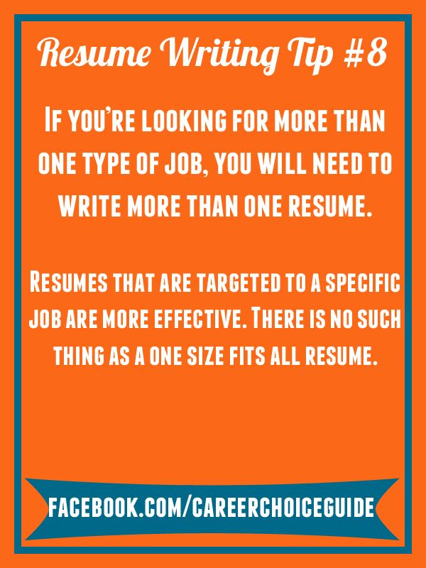 31 best Quick Job Search Tips from Career Choice Guide images on - job guide resume builder