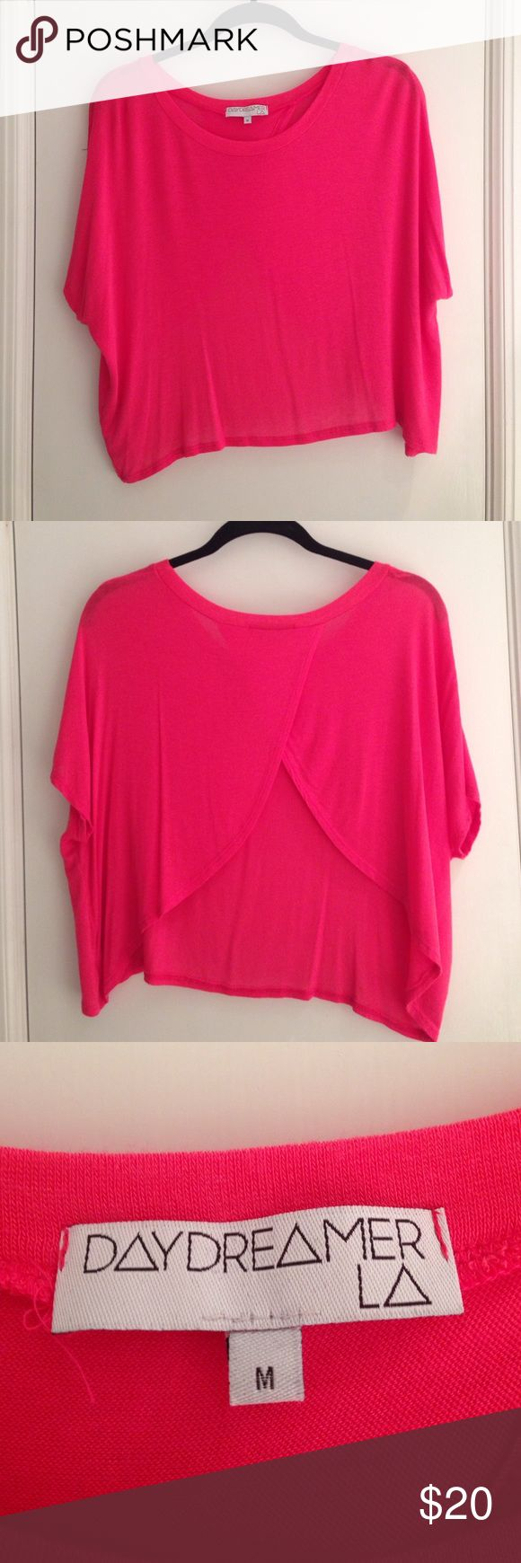 Women's Pink Top Pink, with split back. Perfect to pair with shorts or jeans or dress up with a skirt. Super comfortable and easy. Urban Outfitters Tops Tees - Short Sleeve