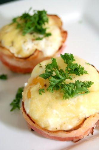 Ontbijtspekbakjes met ei en kaas | Yummy in my Tummy!