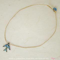 TalisgirlCharms-oxidised-sterling silver-enamel-African Roller-charm-on-handmade-cord-116-WEB
