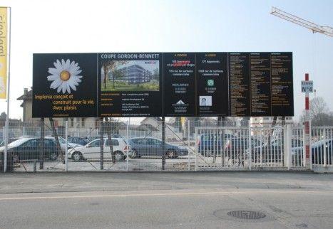 #impression et réalisation de #panneaux #chantier pour #implenia. #grandformat #signalétique #affichage