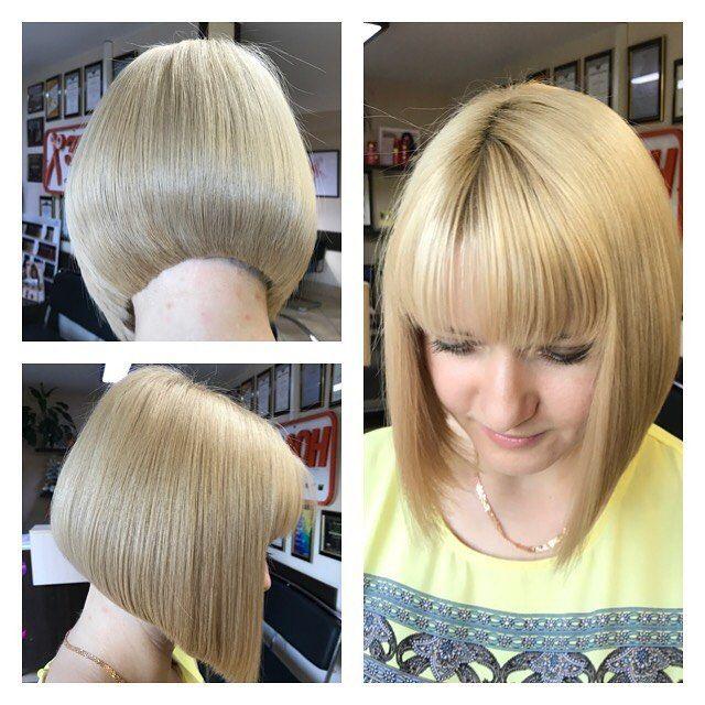 Сегодня только подстриглись , решили сделать градуированный боб , волос реально много и концы очень сухие , а так убили двух зайцев #салонэталон #стрижкапенза #сложноеокрашиваниеволос #бобкаре #стрижкабоб#bobhair#bob#hairstyle #haircolor #