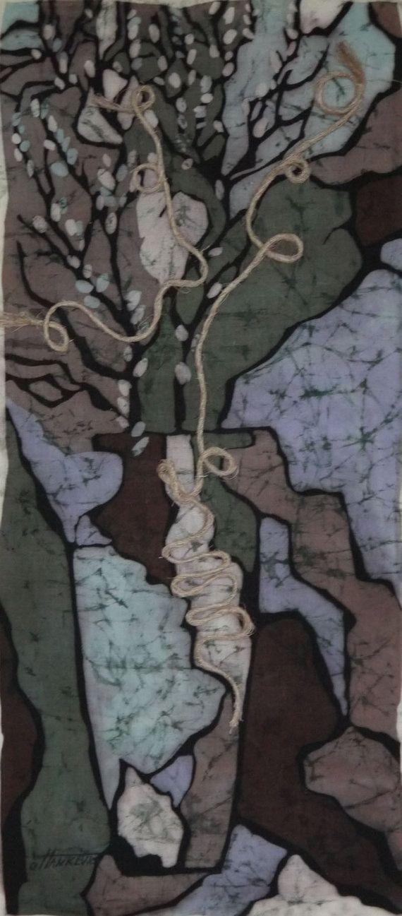Original Batik Painting. Contemporary Art. Spring by OHankArt, $350.00