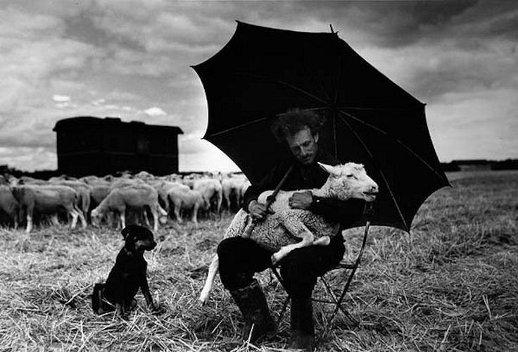 Sabine Weiss. Shepherd, France