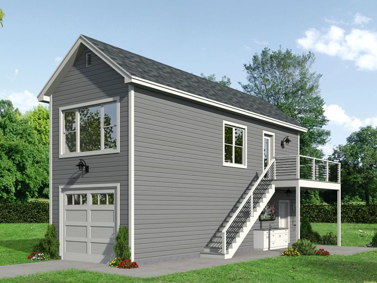 062g 0182 Garage Plan With Boat Storage And Studio Apartment Above Garage Apartment Plan Garage Apartments Above Garage Apartment