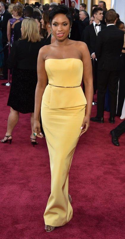 Oscary 2015: Jennifer Hudson w sukni Romona Keveza, fot. East News