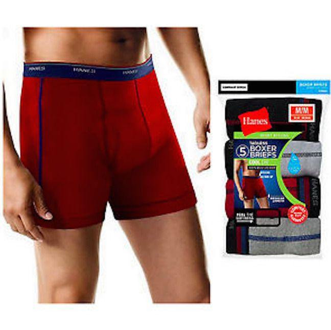 3cfb20c2102a Hanes Men Sport Boxer Briefs Comfort Flex Waistband 5-Pack BLUE LARG   2396Z5 U25