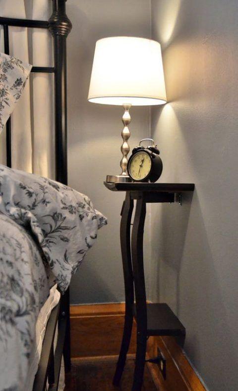 10 best ideas sobre mesillas de noche peque as en - Mesita de noche pequena ...