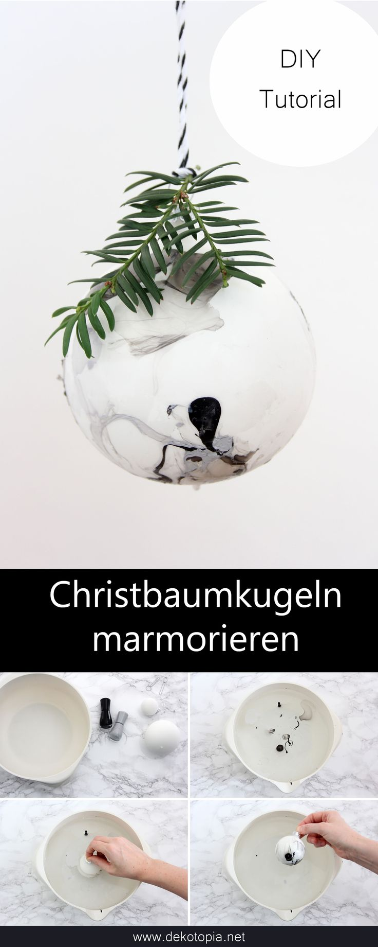 DIY Anleitung: Christbaumkugeln mit Nagellack kugeln