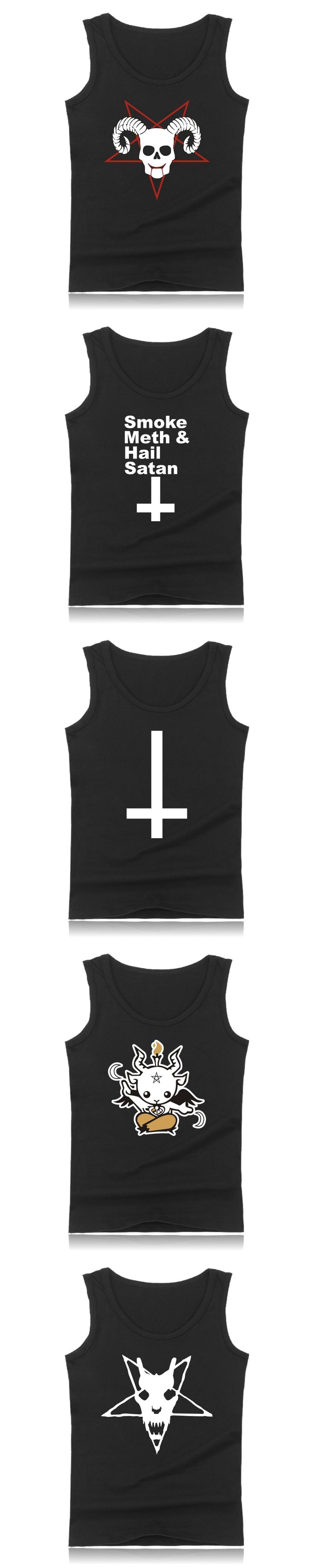 Satan Cartoon Casual Cotton Plus Size Muscle Tank Tops For Men Summer Vests And Cool Character Bodybuilding Tank Tops Men