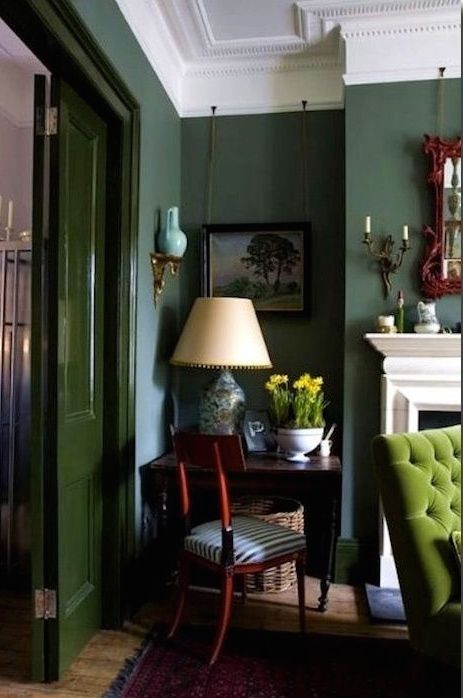 Blue and green sumptuousness by Gavin Houghton in London.