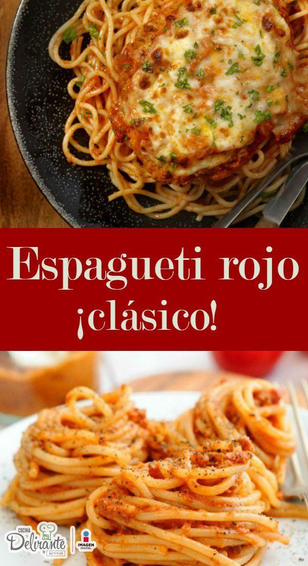 Receta de espagueti rojo   CocinaDelirante