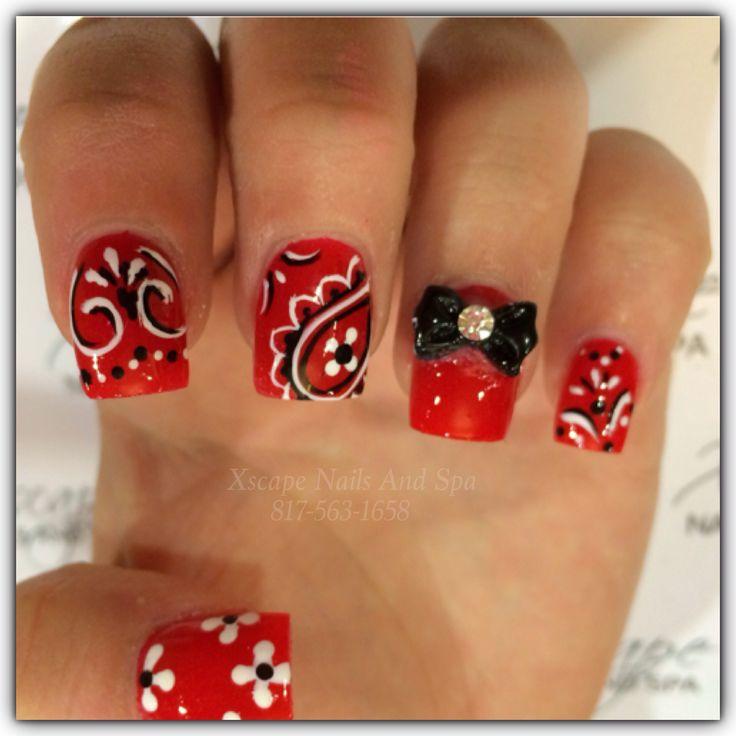 Bandana nail designs
