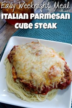 Looking for easy weeknight meal cube steak recipes? This one is simple and easy and you kids will love it! This Italian Parmesan Crusted Steak yummy!