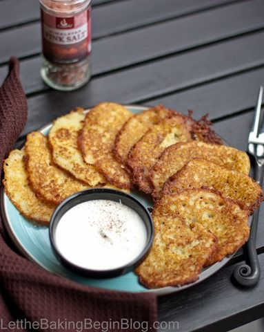 Potato Pancakes. It's like pan fried potatoes, but crispy in every single bite. Add sour cream to that, and you've just transferred yourself to some kind of potato heaven. It really doesn't get any...