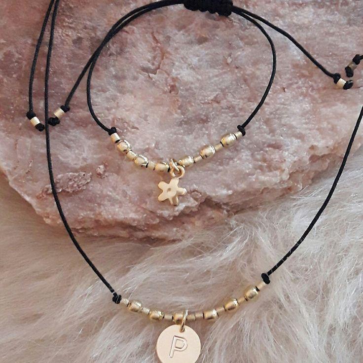 Halus ajustable collar estrella ~ pulsera letra  [$10 y $6 mil] #handmade #sutter #hechoamanoenchile