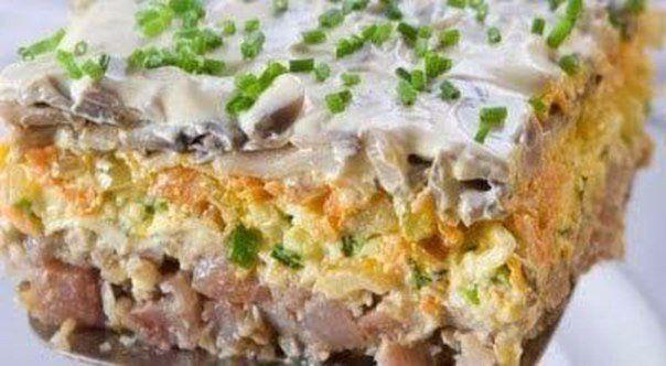 Очень вкусный салат с сельдью
