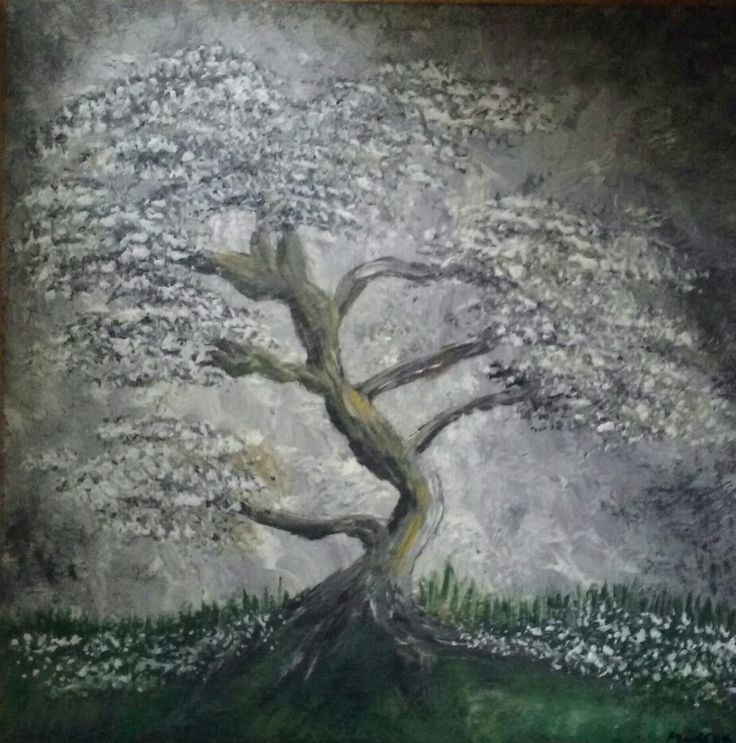 Old tree painting