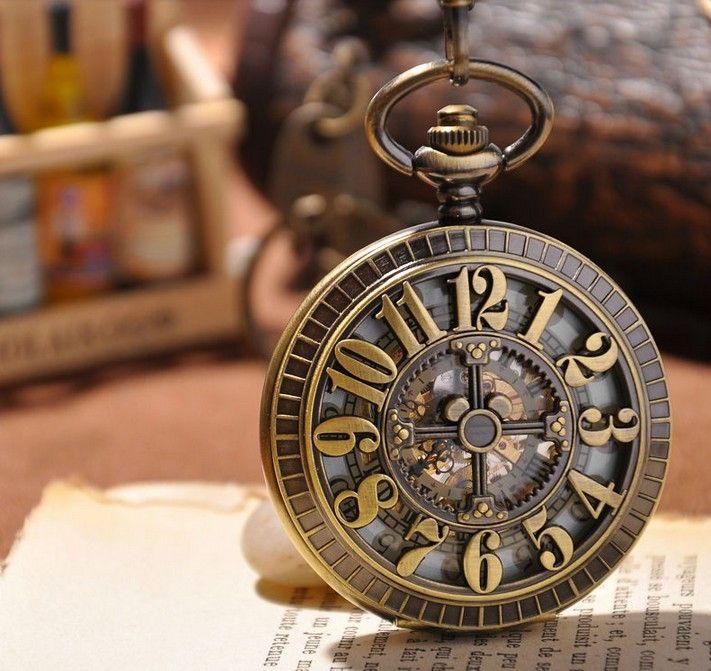 montre à gousset mécanique Baroque, squelette.