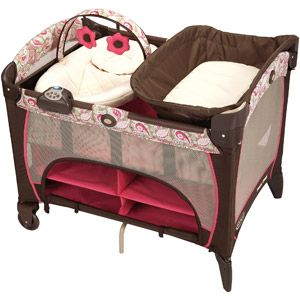 graco pack 39 n play playard with newborn napper station dlx jacqueline for the kids. Black Bedroom Furniture Sets. Home Design Ideas
