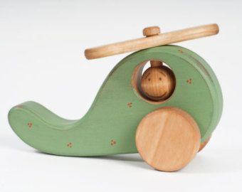 Wooden Airplane Toy Wood Plane Toy Toddler Toy Kids Toy