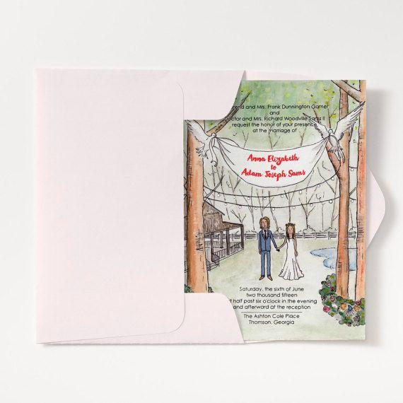 Custom Watercolor Invitations by bensonbensonco.com
